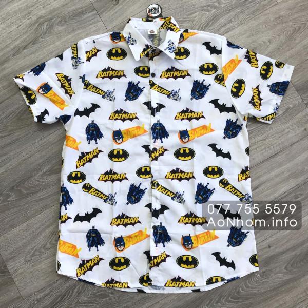 Áo sơ mi hoạt hình - Batman Lâu Đài, Batman Nửa Trắng Nửa Đen